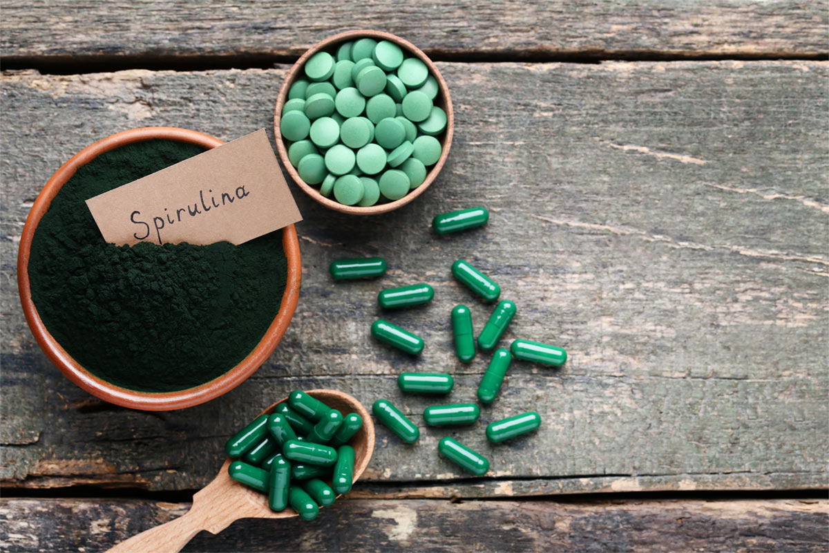 Spirulina is a type of blue-green algae
